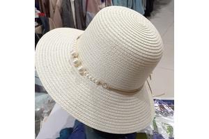 خرید کلاه ساحلی حصیری دورگرد بسیار زیبا و باکیفیت مارک دار با تزیین...